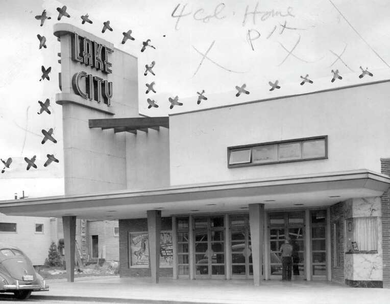 The Lake City Theater, May 1946. Marks were made by a P-I photo editor.
