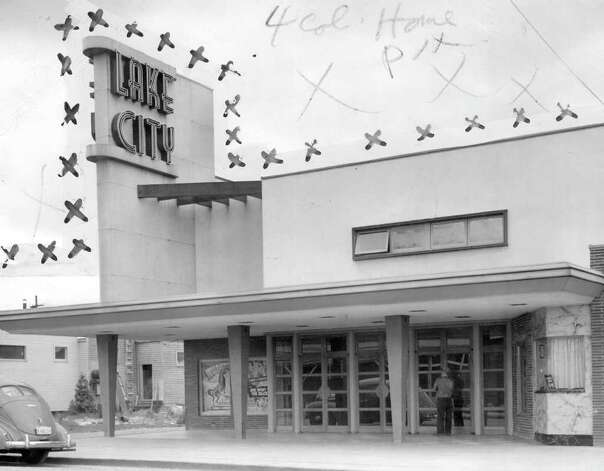 The Lake City Theater, May 1946. Marks were made by a P-I photo editor. Photo: Seattlepi.com File