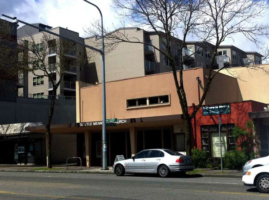 The Seattle Mennonite Church now owns the building that for years was the Lake City Theater. Photo: Casey McNerthney/seattlepi.com
