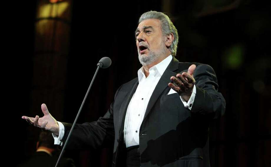 Opera singer Placido Domingo performs with the San Antonio Opera at the AT&T Center on Wednesday, June 1, 2011. Kin Man Hui/kmhui@express-news.net / kmhui@express-news.net