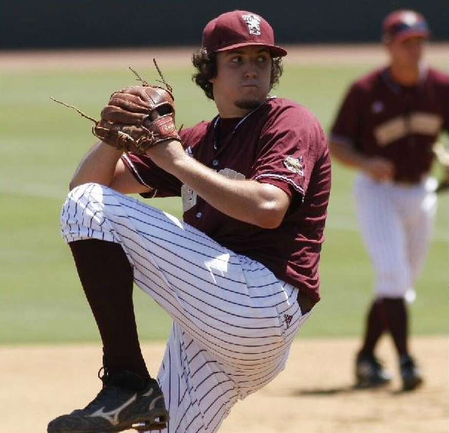 Texas State was the only Division I school to take a flier on Carson Smith, despite a strong arm and an imposing 6-5 frame. COURTESY PHOTO/TEXAS STATE ATHLETICS