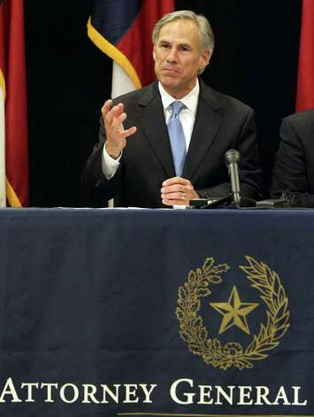 Texas Attorney General Greg Abbott objects to the role of federal judges in the redistricting process. Photo: San Antonio Express-News.