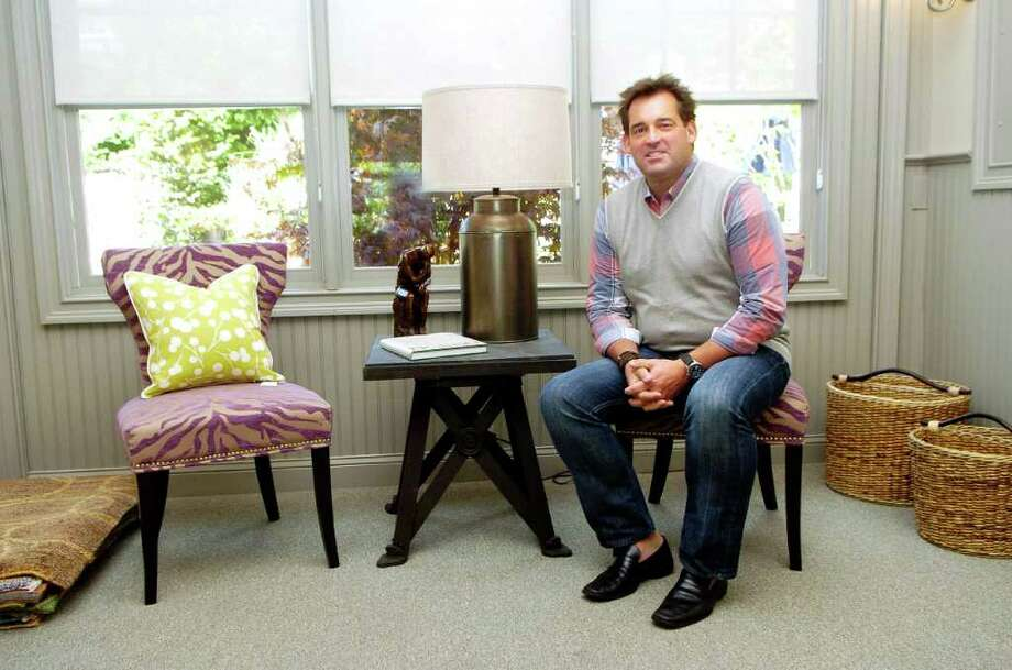 Interior designer Steve Watson in his new shop Steve Watson Interior Design on Interlaken Rd in Stamford, Conn.  photographed on Thursday June 2, 2011. Photo: Dru Nadler / Stamford Advocate Freelance