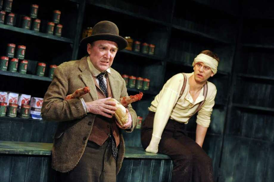 "The Druid Theatre of Galway, Ireland, is bringing its production of ""The Cripple of Inishmaan"" to New Haven's Interational Festival of the Arts and Ideas. Dermot Crowley and Tadhg Murphy are featured in the dark comedy. Photo: Contributed Photo / Connecticut Post Contributed"