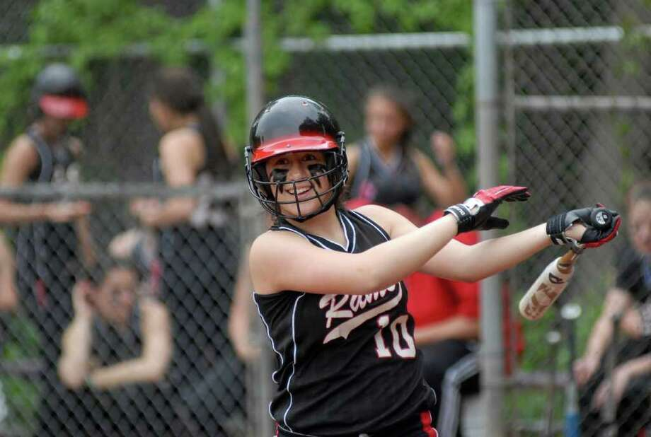 New Canaan's Cydney Ventura at New Canaan at Westhill softball in Stamford, Conn. on Friday May 20, 2011. Photo: Dru Nadler, ST / Stamford Advocate Freelance