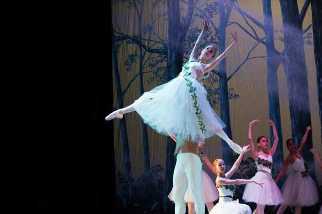 "The Ballet School of Stamford holds a full dress rehearsal of ""The Sleeping Beauty""  starring Daniel Ulbricht, principal dancer from New York City Ballet, at the Palace Theatre in Stamford, Conn.,  June 2, 2011. The show is 7 p.m. Friday evening, for tickets, call 203-325-4466. Photo: Keelin Daly / Stamford Advocate"