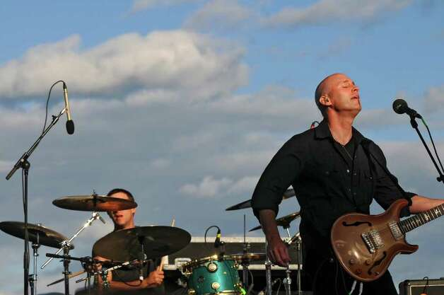 Vertical Horizon lead singer Matt Scannell performs during Alive at Five on Thursday evening June 2, 2011 in Albany, NY.  ( Philip Kamrass / Times Union) Photo: Philip Kamrass