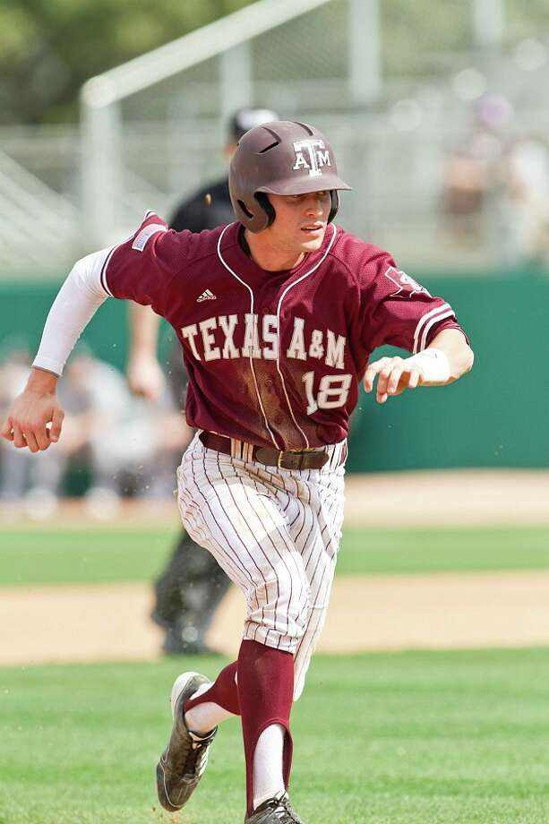 A&M's Tyler Naquin has a rocket arm and a Big 12-best .379 batting average. COURTESY OF TEXAS A&M