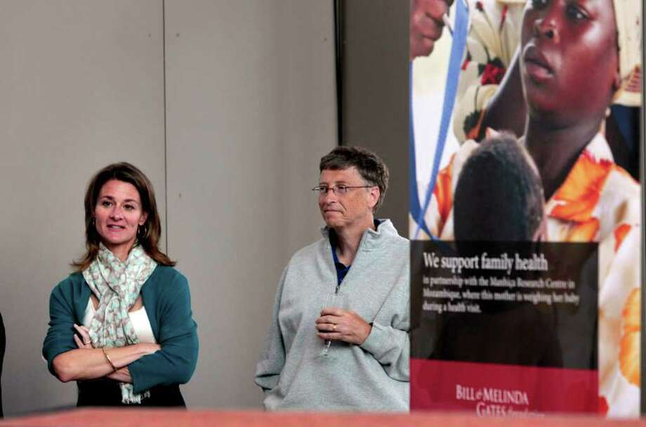Melinda Gates, left, and husband Bill Gates at the opening reception of the Bill & Melinda Gates Foundation headquarters in Seattle. Melinda Gates argues that contraception is a vital component to family health. Photo: AP