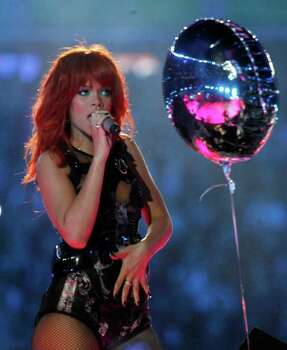 Rihanna performs the 75th anniversary celebrations of this year's Champions League quarter finalists, FC Shakhtar Donetsk at Donbass Arena stadium in Donetsk, Ukraine, Saturday, May 14, 2011. Photo: Efrem Lukatsky, AP / AP