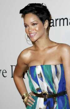 Rihanna arrives at the Clive Davis pre-Grammy party in Beverly Hills, Calif. on Saturday, Feb. 7, 2009. Photo: Matt Sayles, AP / AP