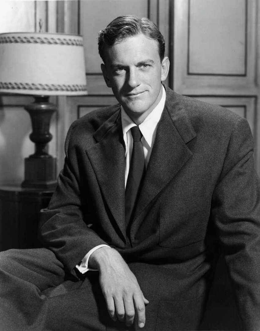 Promotional portrait of American actor James Arness, 1950s.