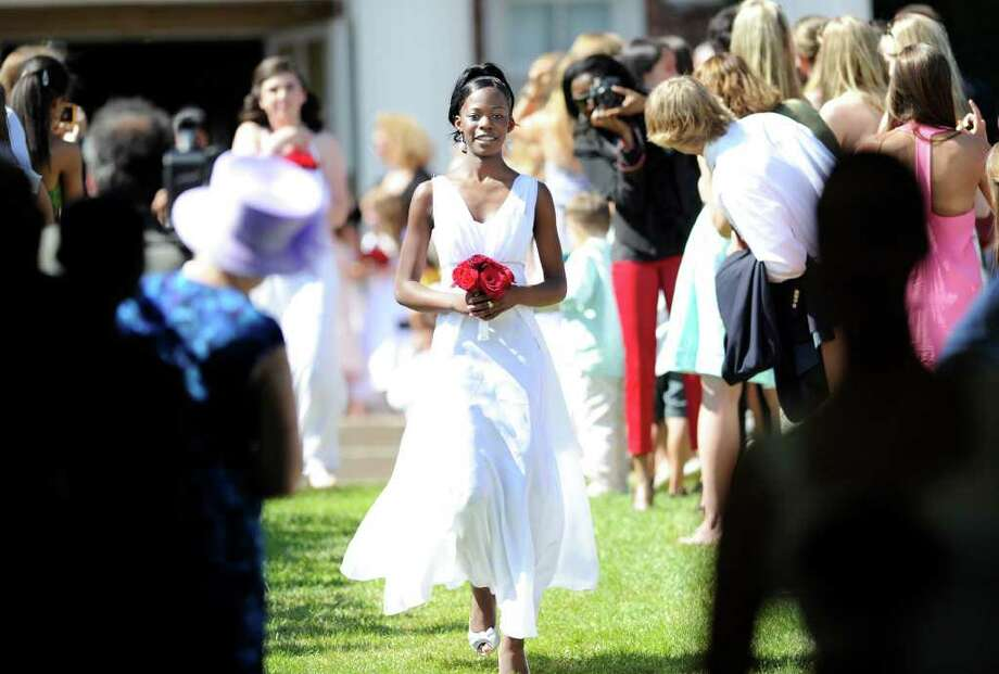 Convent of the Sacred Heart graduating senior Joweria Joan Nakubulwa during the Convent of the Sacred Heart commencement, Greenwich, Friday afternoon, June 3, 2011. Photo: Bob Luckey / Greenwich Time