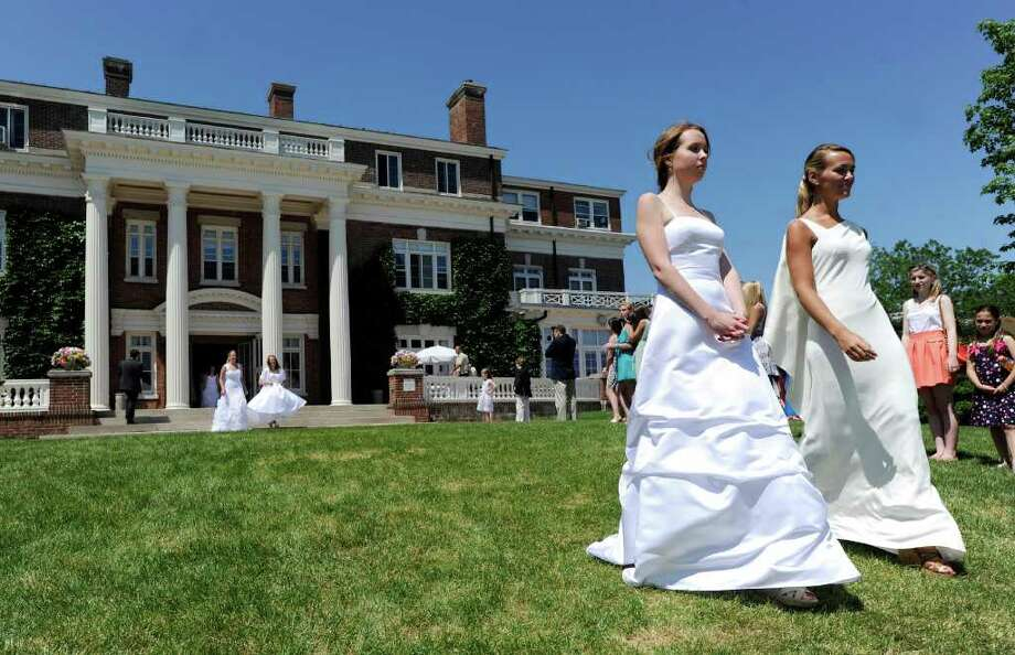 Convent of the Sacred Heart Commencement, Greenwich, Friday afternoon, June 3, 2011. Photo: Bob Luckey / Greenwich Time