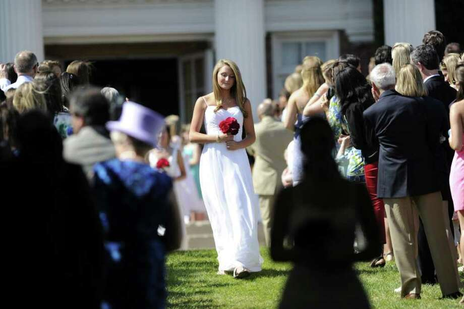 Convent of the Sacred Heart Commencement, Greenwich, Friday afternoon, June 3, 2011. Photo: Bob Luckey, Greenwich Time / Greenwich Time