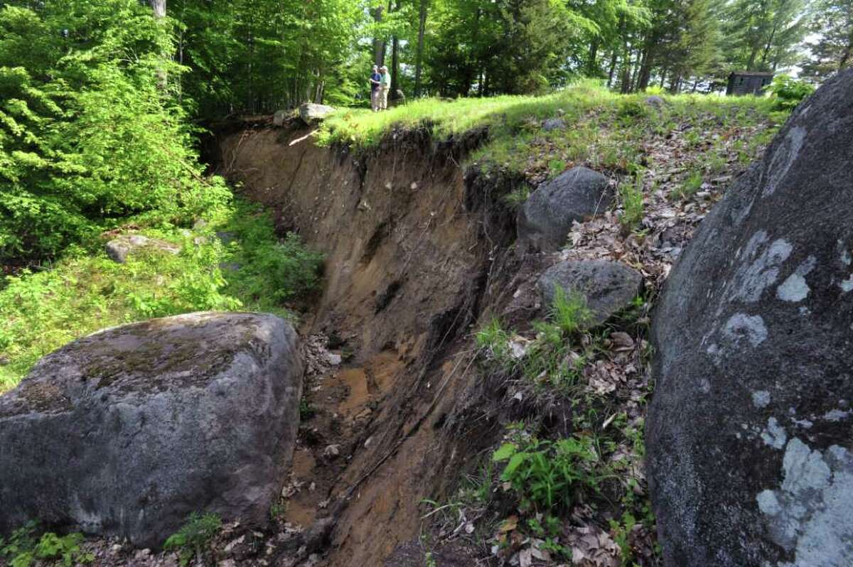 A large scarp on someone's property in Keene Valley, N.Y. Tuesday May 31, 2011. (Lori Van Buren / Times Union)
