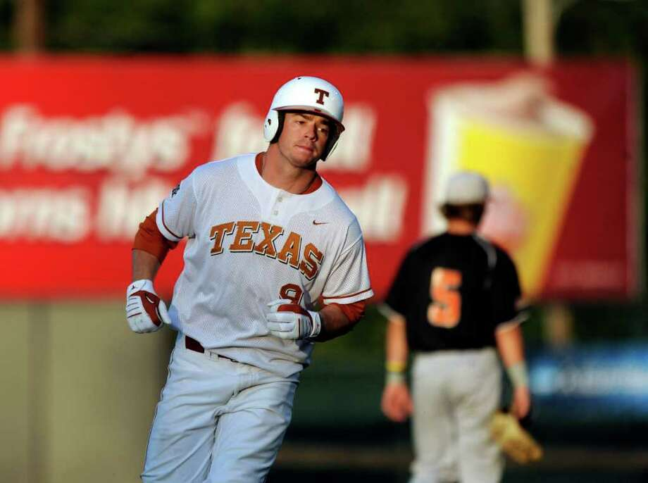 Tant Shepherd of Texas rounds the bases after hitting a home run against Princeton in NCAA Baseball Austin Regional action on Friday, June 3, 2011. BILLY CALZADA / gcalzada@express-news.net Photo: BILLY CALZADA, Express-News / gcalzada@express-news.net