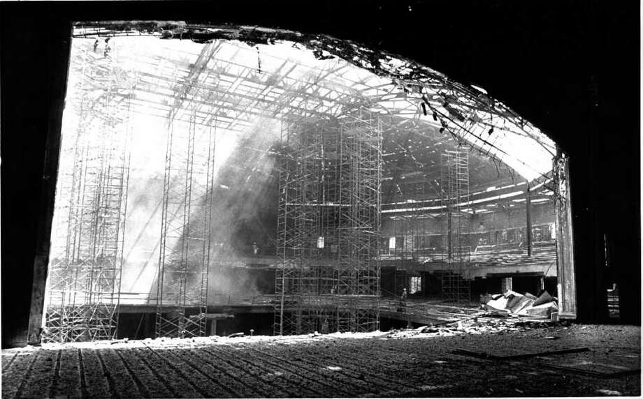 Municipal Auditorium is seen from the view of the stage in this August 1982 Express-News file photo before full reconstruction was completed on the downtown facility after it was gutted in a 1979 fire. Photo: STEVE KRAUSS, Express-News File Photo / SAN ANTONIO EXPRESS-NEWS