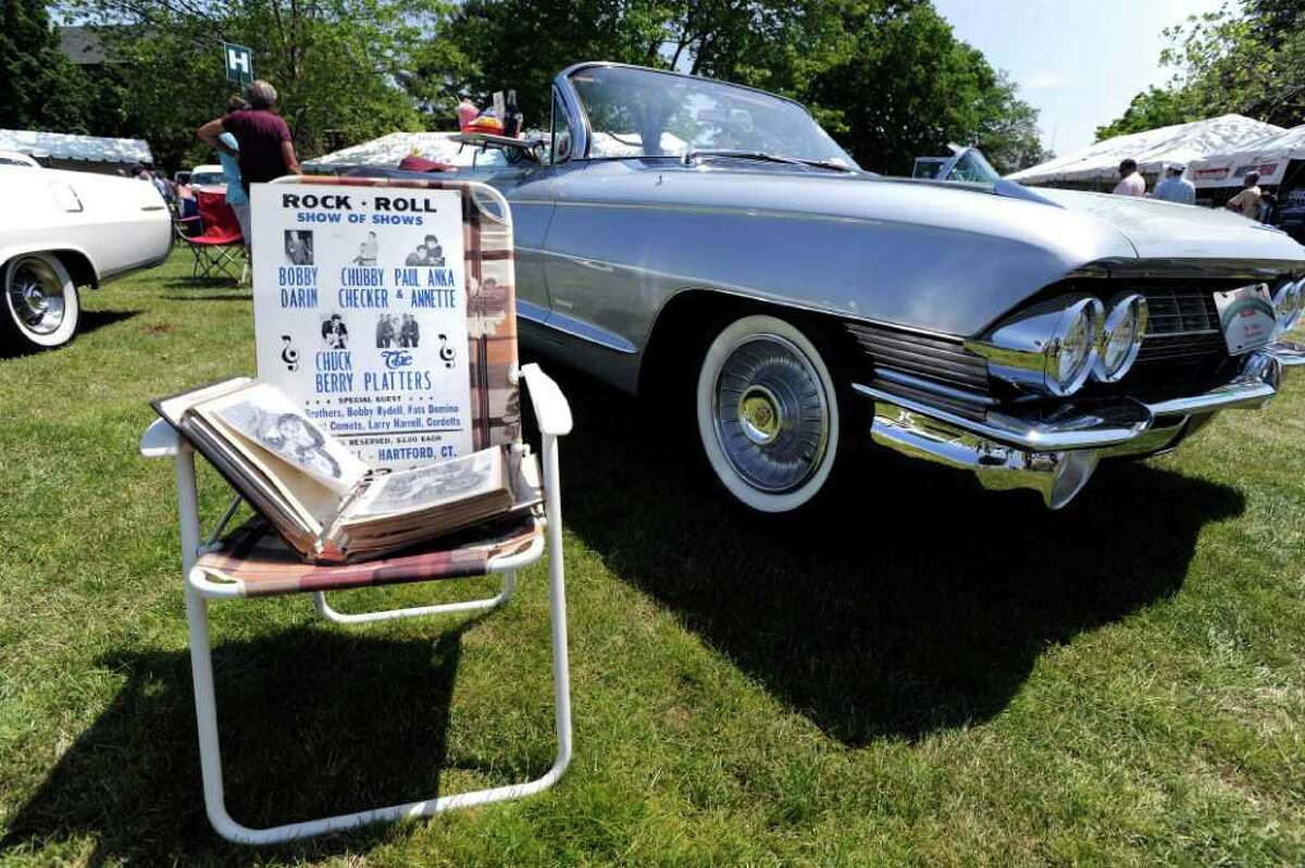 A 1961 Cadillac convertible on display at the Greenwich Concours d'Elegance at Roger Sherman Baldwin Park, Saturday morning, June 4, 2011.