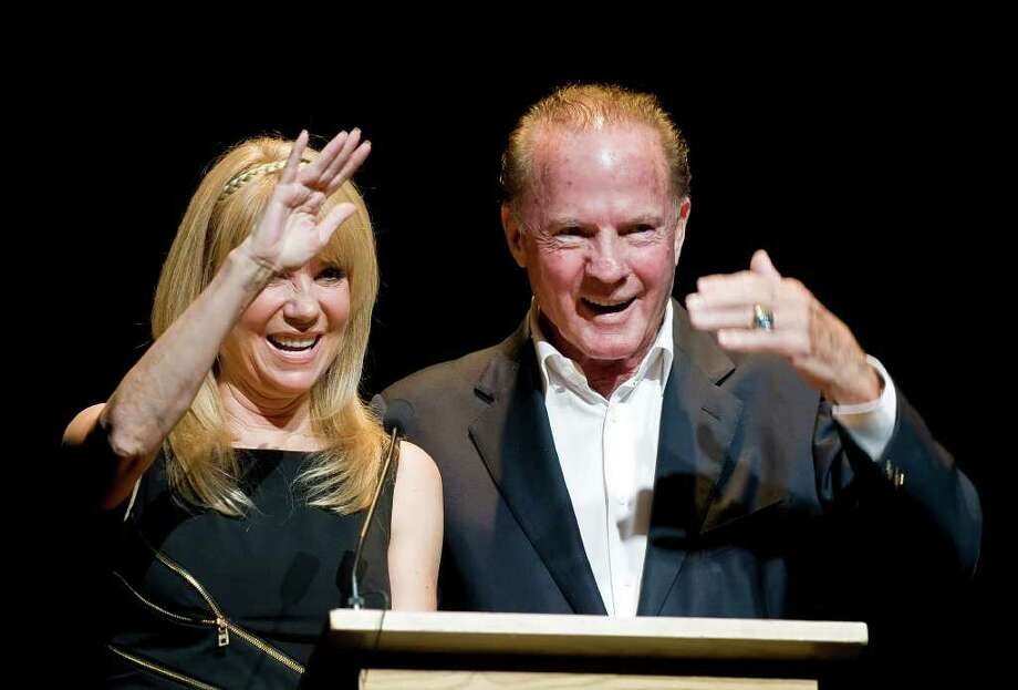 "Kathie Lee and Frank Gifford at the Dana's Angels Research Trust benefit in 2010. Lee and Gifford were seen with their children, Cody and Cassidy in Port Chester, N.Y. last weekend at a showing of ""The Hangover Part II."" Photo: Shelley Cryan, ST / Stamford Advocate"