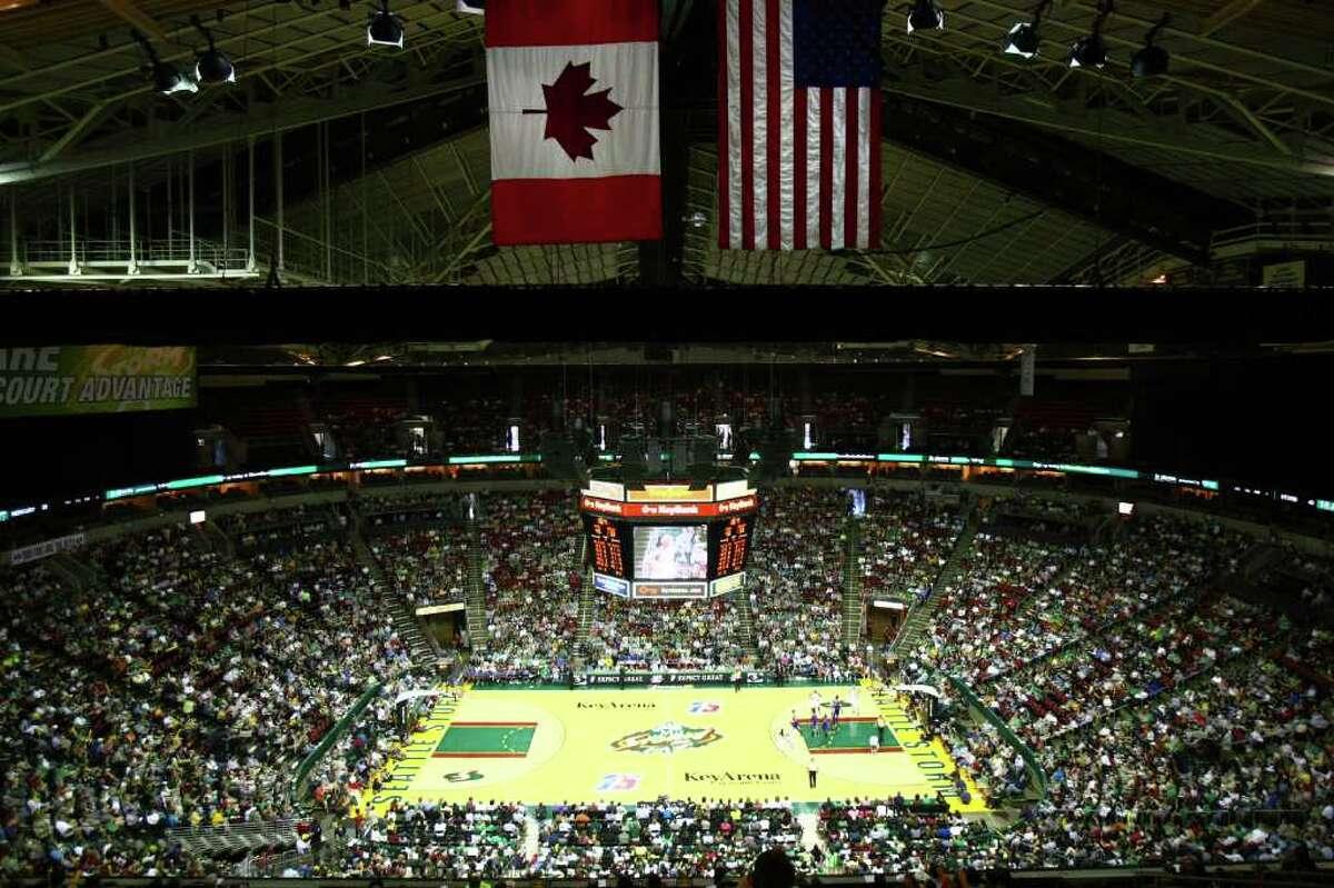 The Seattle Storm and Phoenix Mercury kickoff the 2011 WNBA season at KeyArena.