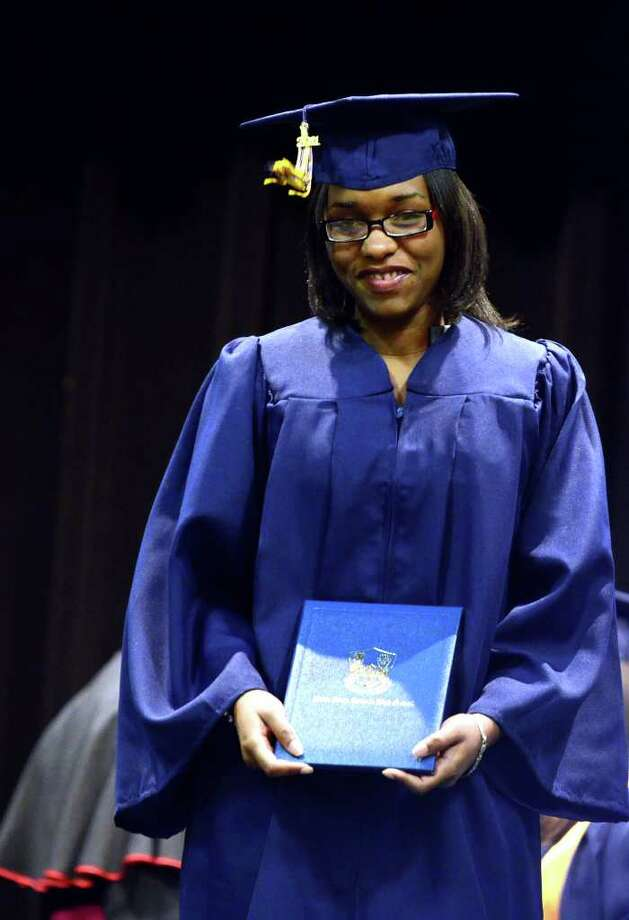Kara Issa Bazile during the 2011 Notre Dame Catholic High School Commencement at Notre Dame in Fairfield on Saturday, June 4, 2011. Photo: Amy Mortensen / Connecticut Post Freelance