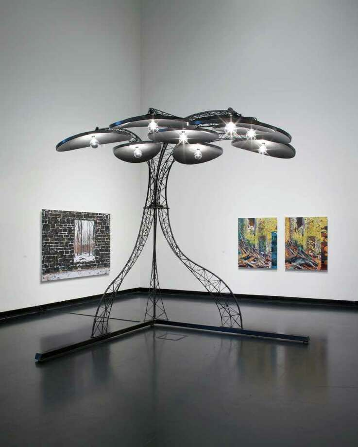 Installation view of Alumni Invitational 3, courtesy of The Frances Young Tang Teaching Museum and Art Gallery at Skidmore College. (Photograph by Arthur Evans)