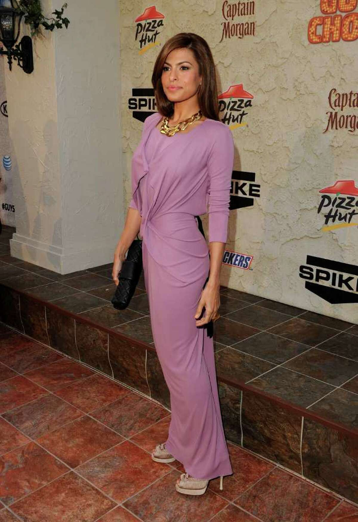 Actress Eva Mendes arrives at Spike TV's fifth annual Guys Choice Awards at Sony Pictures Studios in Culver City, Calif., on Saturday, June 4, 2011. The show airs on June 10.