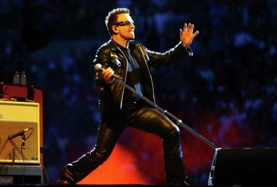 Bono performs during U2's 360º Tour at Qwest Field. Photo: JOSHUA TRUJILLO / SEATTLEPI.COM
