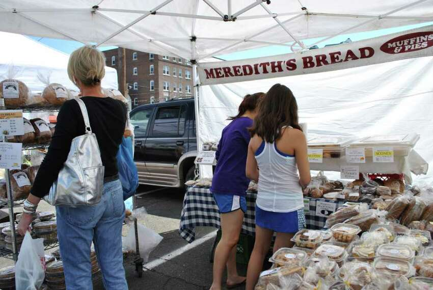 The French Market is on Spring St in Stamford every Saturday from June to October.