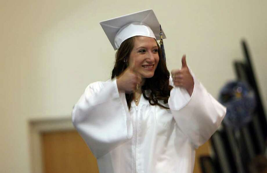 Katlyn Sheffield, of Shelton, graduates from Lauralton Hall in Milford on Sunday, June 5, 2011. Photo: B.K. Angeletti / Connecticut Post
