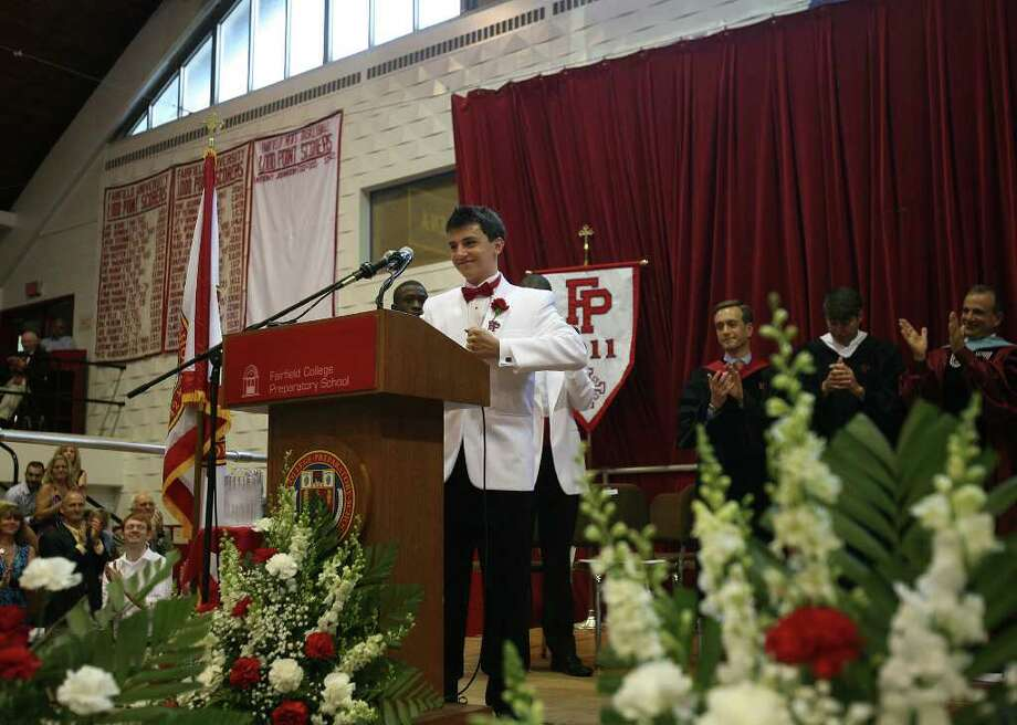 Senior Speaker Max Rein at Fairfield Prep Commencement at Fairfield University's Alumni Hall on Sunday, June 5, 2011. Photo: Brian A. Pounds / Connecticut Post