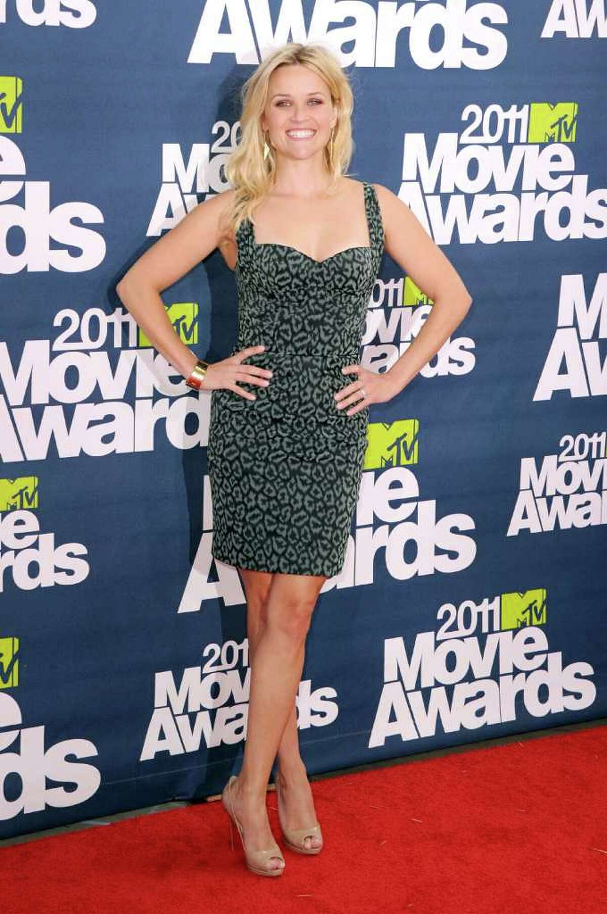 Actress Reese Witherspoon arrives at the 2011 MTV Movie Awards at Universal Studios' Gibson Amphitheatre in Universal City, Calif., on Sunday, June 5, 2011.