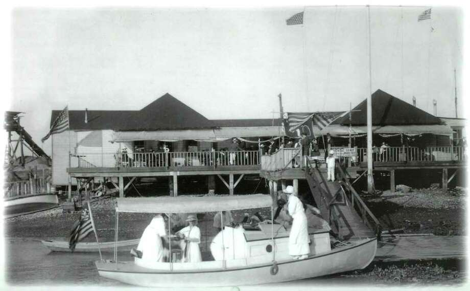 Ponus Yacht Club, which is celebrating its 100th anniversary, around the time of its opening. Photo: Contributed Photo / Stamford Advocate Contributed