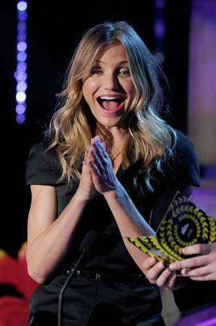 UNIVERSAL CITY, CA - JUNE 05:  Actress Cameron Diaz speaks onstage during the 2011 MTV Movie Awards at Universal Studios' Gibson Amphitheatre on June 5, 2011 in Universal City, California. Photo: Kevin Winter, Getty Images / 2011 Getty Images