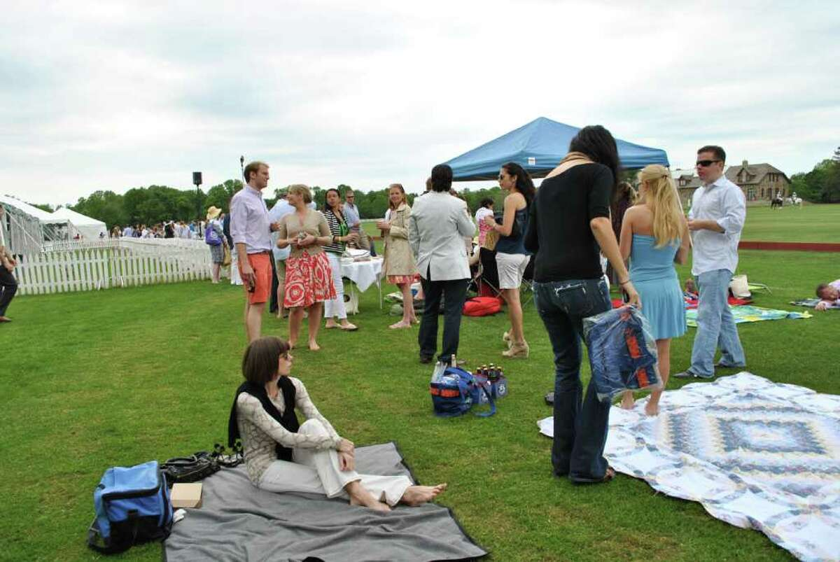 There was a polo match at Conyers Farm in Greenwich on June 5, 2011.