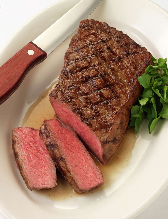 Treat Dad to a New York strip steak from Morton's the Steakhouse this Father's Day. COURTESY MORTON'S / Tim Turner Studio