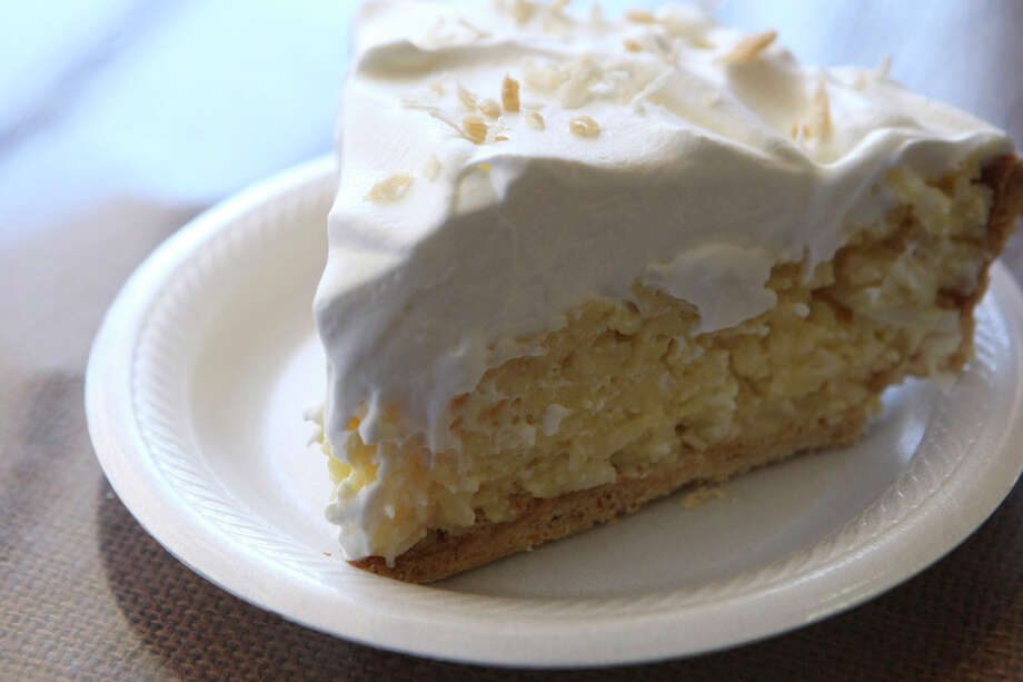 Coconut Cream Pir from The Station Cafe, formerly The Filly Station, is light as air. HELEN L. MONTOYA / EXPRESS-NEWS