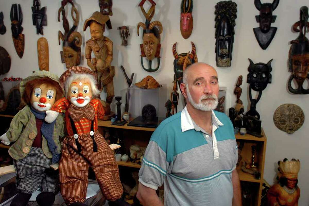 John Zaffis stands in his paranormal museum in Stratford, Conn. June 6th, 2011. For 37-years Zaffis has collected over a thousand haunted objects from around the world.