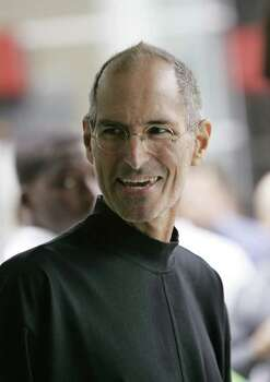 "In this Sept. 9, 2008 file photo, Apple CEO Steve Jobs smiles at a conference in San Francisco.  A Memphis, Tenn., hospital is confirming that Apple founder Steve Jobs received a liver transplant and that he has an ""excellent prognosis.""  Dr. James D. Eason made the announcement Tuesday June 23, 2009 on the hospital's Web site. He is program director at Methodist University Hospital Transplant Institute and chief of transplantation. Photo: Paul Sakuma, AP / AP"
