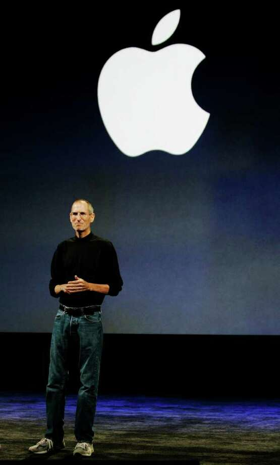 "In this Sept. 9, 2009 file photo, Apple CEO Steve Jobs is seen during an Apple event in San Francisco. Apple's new touch-screen ""tablet"" computer, expected to be unveiled Wednesday, Jan. 27, 2010, could give publishers the alternative to Amazon.com they have been craving and give consumers a new way to think about reading books without paper. Photo: Paul Sakuma, AP / AP2009"