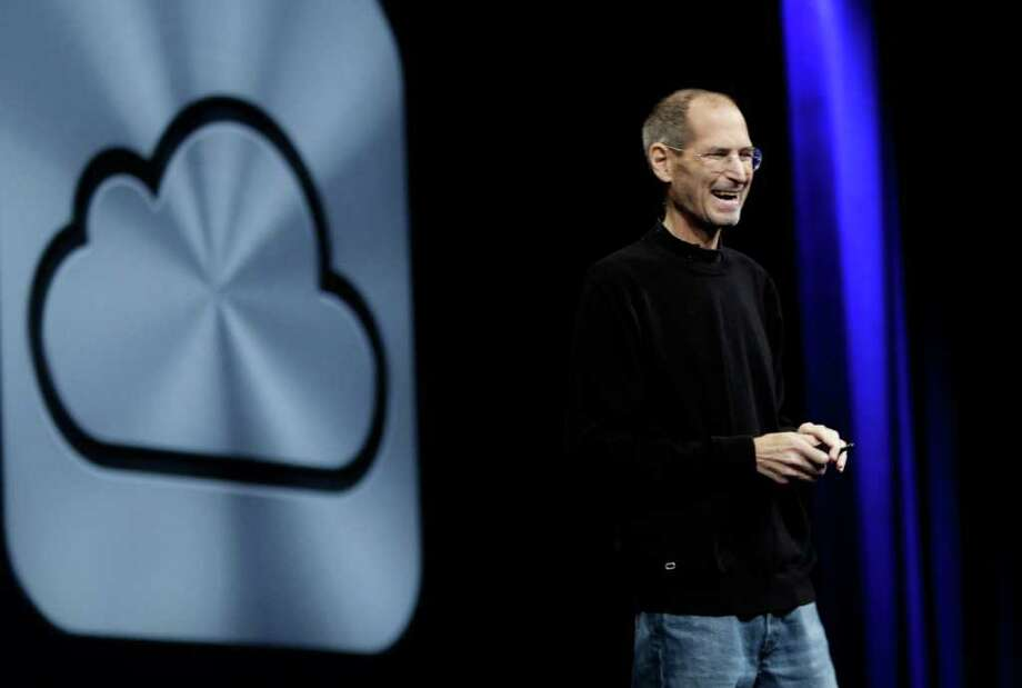 Apple CEO Steve Jobs introduces iCloud during a keynote address to the Apple Worldwide Developers Conference in San Francisco, Monday, June 6, 2011. Photo: Paul Sakuma, AP / AP