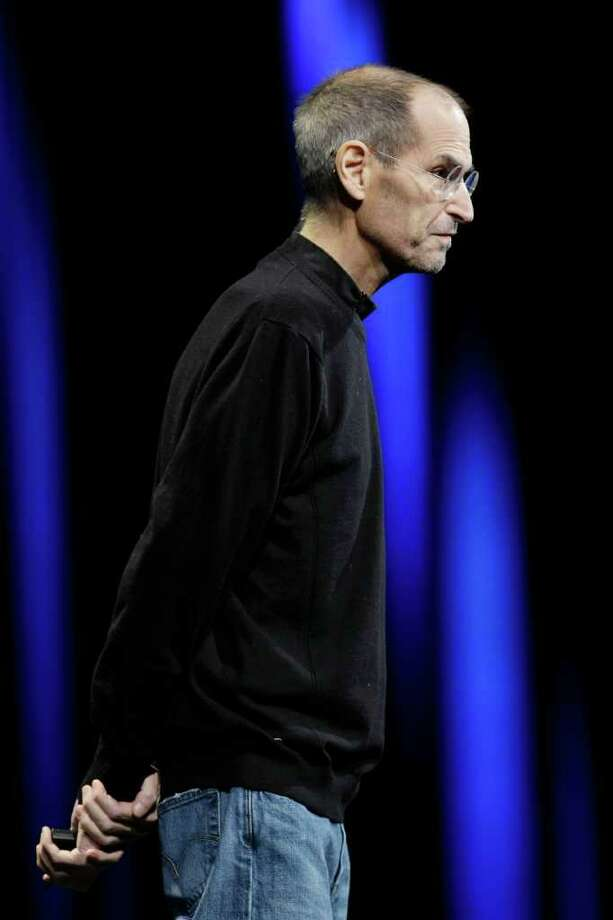 Apple CEO Steve Jobs speaks during a keynote address to the Apple Worldwide Developers Conference in San Francisco, Monday, June 6, 2011. Photo: Paul Sakuma, AP / AP