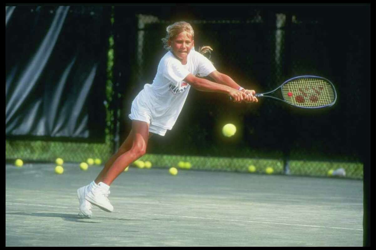 Kournikova started playing tennis at 5 and entering tournaments at 8. At 10, she signed a management deal and went to Bradenton, Fla. to train at Nick Bolletierri Tennis Academy. That's where she's pictured here, at 10, in April 1992.