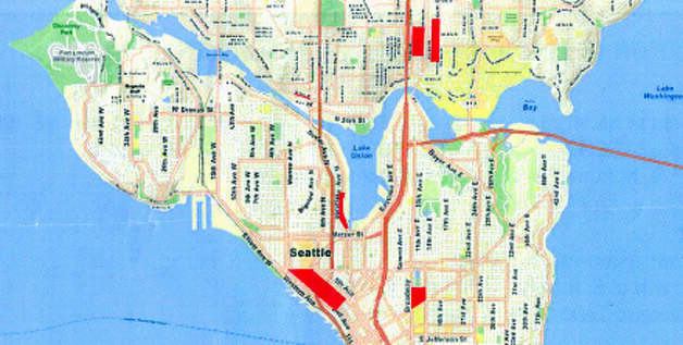Areas designated by police as Seattle Night Life Zones. Photo: Seattle Police Department