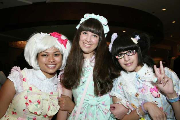 Monica Meneses, Sarah Hernandez and Marina Arriola were at the San Japan Anime & Japanese Culture Convention on 7/10/2010 at the Marriott Rivercenter Hotel. Photo: LELAND A. OUTZ, SPECIAL TO THE EXPRESS-NEWS / SAN ANTONIO EXPRESS-NEWS
