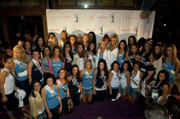 Keisha Walding, Miss Alabama USA 2008; Courtney Erin Carroll, Miss Alaska USA 2008; Kimberly Joiner, Miss Arizona USA 2008; Rachel Howells, Miss Arkansas USA 2008; Raquel Roxanne Beezley, Miss California USA 2008; Beckie Hughes, Miss Colorado USA 2008; Jacqueline Honulik, Miss Connecticut USA 2008; Vincenza Carrieri-Russo, Miss Delaware USA 2008; Chelsey Sophia Rodgers, Miss District Of Columbia USA 2008; Jessica Rafalowski, Miss Florida USA 2008; Amanda Kozak, Miss Georgia USA 2008; Jonelle Layfield, Miss Hawaii USA 2008; Tracey Brown, Miss Idaho USA 2008; Shanon Lersch, Miss Illinois USA 2008; Brittany Mason, Miss Indiana USA 2008; Abbey Nicole Curran, Miss Iowa USA 2008; Michelle Gillespie, Miss Kansas USA 2008; Alysha Noel Harris, Miss Kentucky USA 2008; Michelle Berthelot, Miss Louisiana USA 2008; Kaetlin Parent, Miss Maine USA 2008; Casandra Tressler, Miss Maryland USA 2008; Jackie Bruno, Miss Massachusetts USA 2008; Elisabeth Crawford, Miss Michigan USA 2008; Kaylee Unverzagt, Miss Minnesota USA 2008; Leah Laviano, Miss Mississippi USA 2008; Candice Crawford, Miss Missouri USA 2008; Tori Rae Wanty, Miss Montana USA 2008; Micaela Johnson, Miss Nebraska USA 2008; Veronica Grabowski, Miss Nevada USA 2008; Breanne Silvi, Miss New Hampshire USA 2008; Tiffany Andrade, Miss New Jersey USA 2008; Raelene Aguilar, Miss New Mexico USA 2008; Danielle Roundtree, Miss New York USA 2008; Andrea Duke, Miss North Carolina USA 2008; Stephanie Tollefson, Miss North Dakota USA 2008; Monica Day, Miss Ohio USA 2008; Lindsey Jo Harrington, Miss Oklahoma USA 2008; Mary Lee Horch, Miss Oregon USA 2008; LauRen Merola, Miss Pennsylvania USA 2008; Amy Diaz, Miss Rhode Island USA 2008; Jamie Hill, Miss South Carolina USA 2008; Charlie Buhler, Miss South Dakota USA 2008; Hailey Laine Brown, Miss Tennessee USA 2008; Crystle Stewart, Miss Texas USA 2008; Julia Bachison, Miss Utah USA 2008; Kim Tantlinger, Miss Vermont USA 2008; Tori Hall, Miss Virginia USA 2008; Michelle Marie Font, Miss Wa Photo: Patrick Prather, HO / MISS UNIVERSE  LP, LLLP