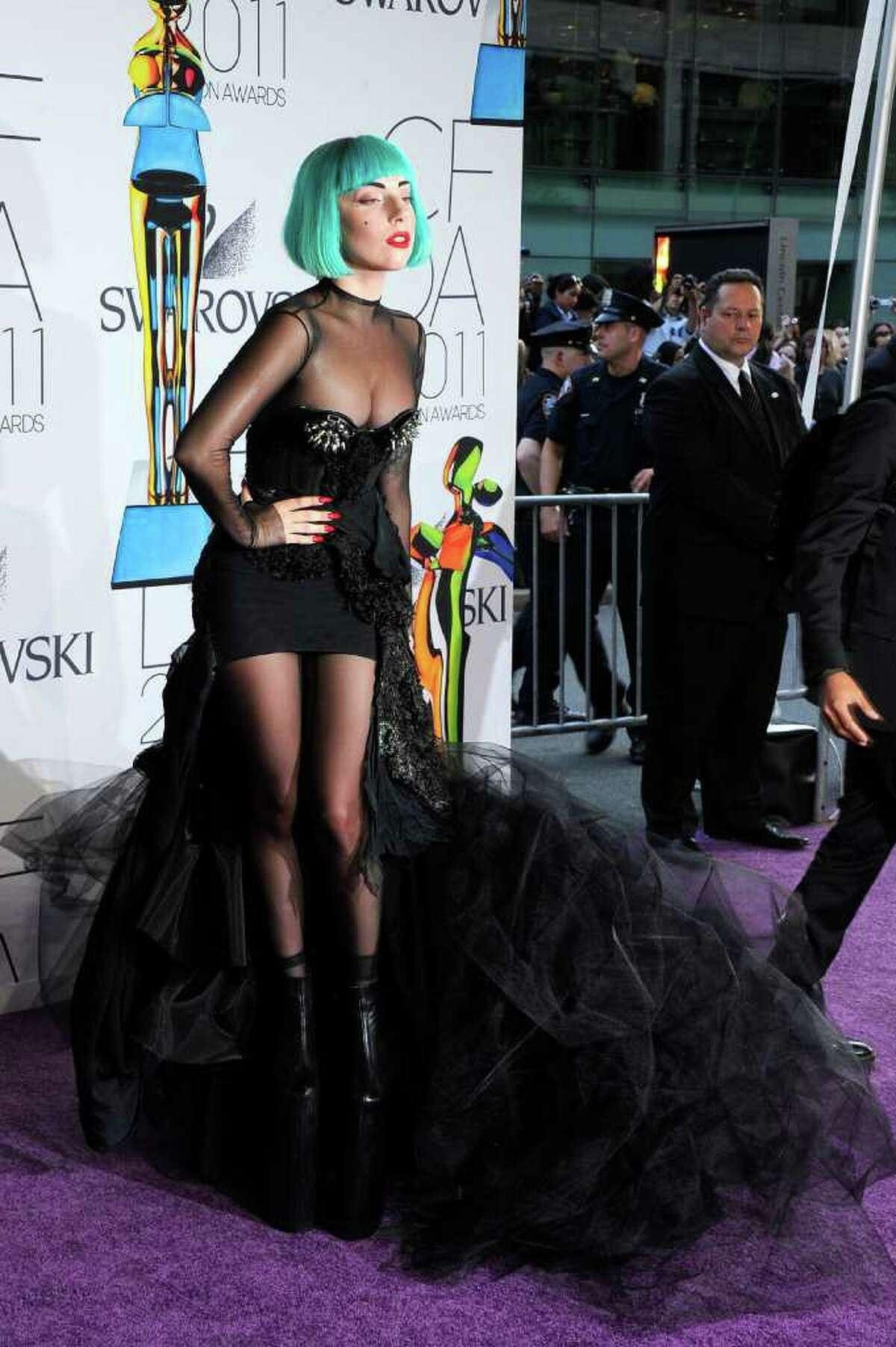 Lady Gaga attends the 2011 CFDA Fashion Awards at Alice Tully Hall, Lincoln Center on June 6, 2011 in New York City.