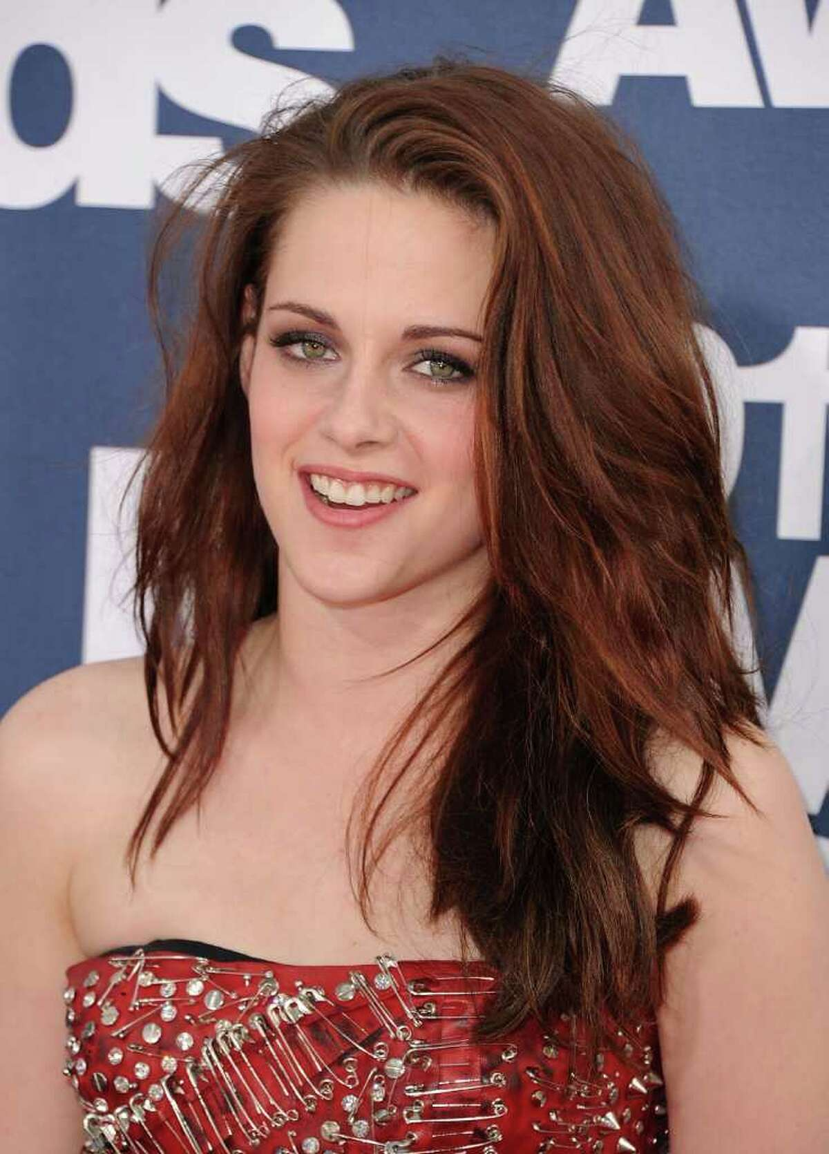 Actress Kristen Stewart arrives at the 2011 MTV Movie Awards at Universal Studios' Gibson Amphitheatre in Universal City, California.