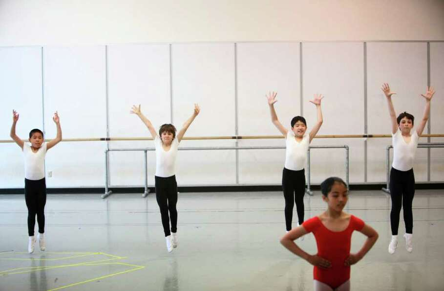 Students perform during Pacific Northwest Ballet's 17th annual DanceChance observation day on Tuesda